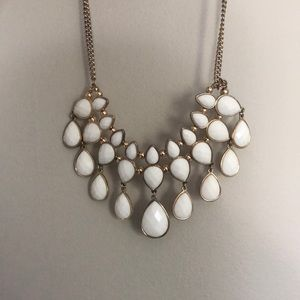 3-layer white beaded necklace